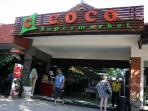 View of the 'Coco Supermarket' at 20 minutes walk