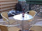 Newly decked patio with barbie