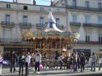 Montpellier place de comedie, cosmopolitan town