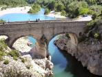 Pont d'Able 15 mins by car, swim in the clean natural pool