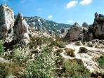 Moureze (next village) amazing sandstone formations