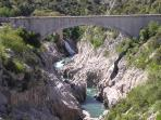 Beautiful gorges of the Herault, excellent for canoeing and swimming