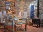 Diningroom and woodstove