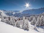 View from piste