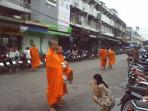 MAKE MERIT BY GIVING ALMS TO BUDDHIST MONKS