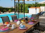 Breakfast on the Pool Terrace