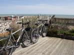 2  bikes to cycle along the coast
