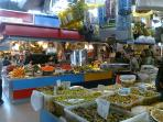 Malaga City. amazing market with lots of Alora olives