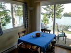 Dining area with great views of the bay