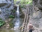 Ladders make the waterfall climb that little bit more practical!