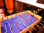 Football and small pool tables available
