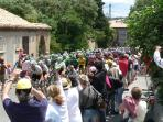 The Tour de France passes through nearby Homps