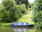Wander down & sit by the river or charter our boat
