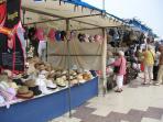 Shopping at stalls along Torrevieja Port