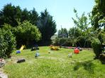 play garden in front of the cottages