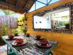 Outdoor Covered Dining Area