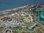 Areal view of our holiday rental apartments in La Cala de Mijas