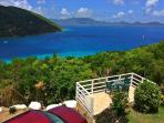The view overlooking Tortola.