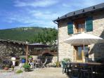 Les Angles Pyrenean Mountain cottage in the summer