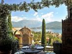 Brentano Nobile's terrace balcony is ideal for alfresco dining!
