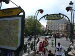 Place Pigalle's métro station nearby
