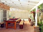 Outdoor entertaining & dining area