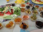Lovely tempting Turkish breakfast