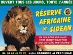 The Africian reserve at Sigean an hour away