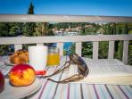 A breakfast with a magnificent view