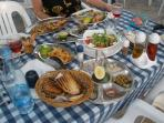 Table Spread at Vassos at the Old Fish Harbour