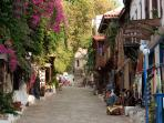 Cobbled shopping streets in Kas town centre