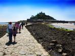 Walk across the causeway to St. Michael's Mount