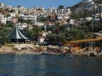 kisla beach club (taken from the water taxi)