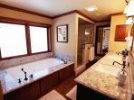 Master Bathroom with jacuzzi and steam shower