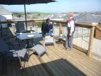 Guests enjoying the views and just soaking up the rays and drinking the wine.