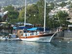 Enjoy a lazy day with traditional lunch on one of the many Gulets doing day trips from the harbour.
