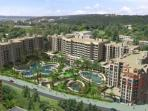 Royal Beach Barcelo complex - apt  is on right hand side
