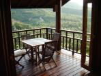breakfast table balcony master bedroom
