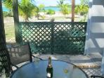 Beach Studio Patio awaits your arrival - just steps from the beach