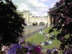 Gorgeous Parade Gardens and Pulteney Bridge, just steps away