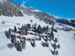 The bungalo is located right in the midel of the ski slops
