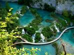 National park Plitvice Lakes (distance from the apartment: 60 km)