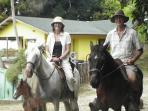 Off to the beach on horseback