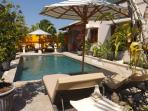 Swiming pool with 4 x sun lounges