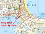 Manly Beach Apartment location
