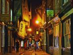 Famous Shambles is just a 10 minute walk away