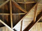 amazing teak ceiling architecture