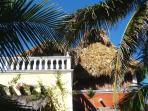 View from the garden to the Casa Maya Lodge