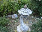 detalle del jardín zen