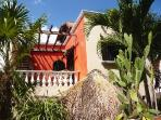 Villa Maya seen from Garden , with Roof Top Terrace, smaller Condo